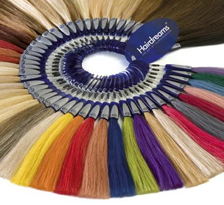 extensiones Hairdreams de colores
